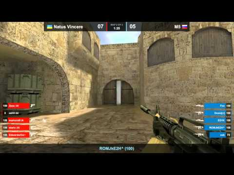 Na`Vi vs. M5 dust2 map 2