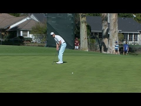 John Senden sinks a 24-foot eagle putt at Northern Trust