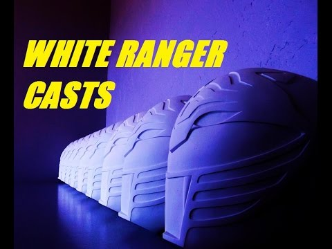 CRAFTING THE HELMETS. HOW I CREATE THE WHITE RANGER CASTS