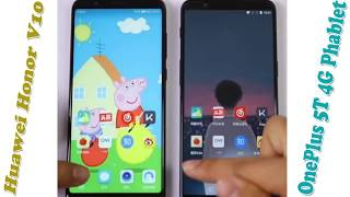 OnePlus 5T 4G Phablet Vs Huawei Honor V10 Speed Test and Compare Price