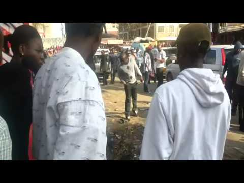 Man lynched by a mob at Donholm, Nairobi