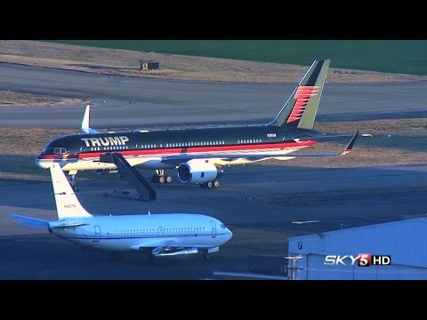 WEB EXTRA: Sky 5 Aerials Of Trump's Plane At Nashville International Airport