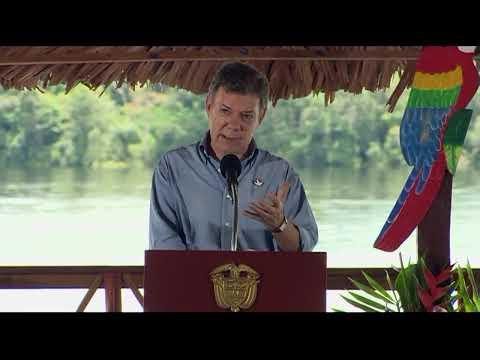 Presidente Santos inauguró el Comando de Policía de Guainía