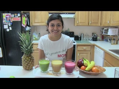 Summer Diet - Homemade Fresh Fruits & Vegetables Juices Recipe Video By Bhavna video