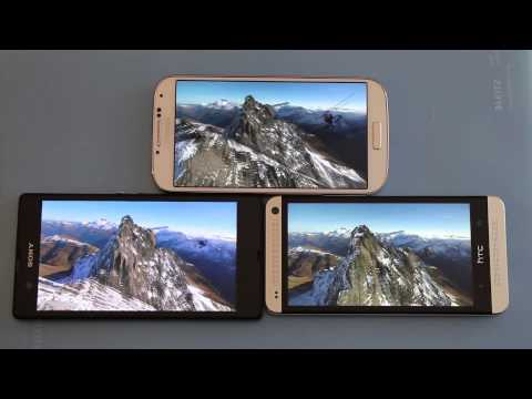 Display Test Galaxy S4 vs HTC One vs Xperia Z