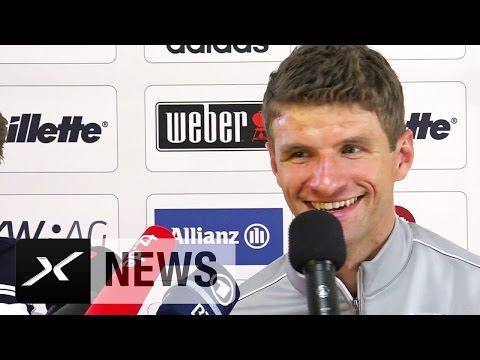 Wechselt Bastian Schweinsteiger? Thomas Müller witzelt | FC Bayern München