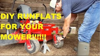 DIY RUNFLATS FOR YOUR MOWER for 10$!!! Southern Style Lawn Care