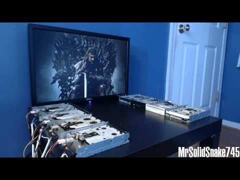 Game Of Thrones Theme on eight floppy drives