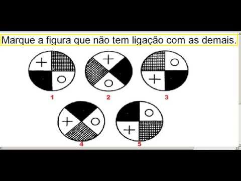 Curso de Raciocínio Lógico com figuras e imagens Teste psicotécnico QI do Detran e concursos