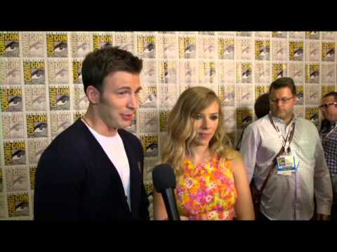 Comic Con 2013 - Chris Evans and Scarlett Johansson on Captain America: The Winter Soldier
