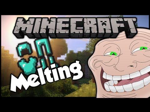Minecraft: Trolling A Weird 9 Year Old #8 Melting Armor