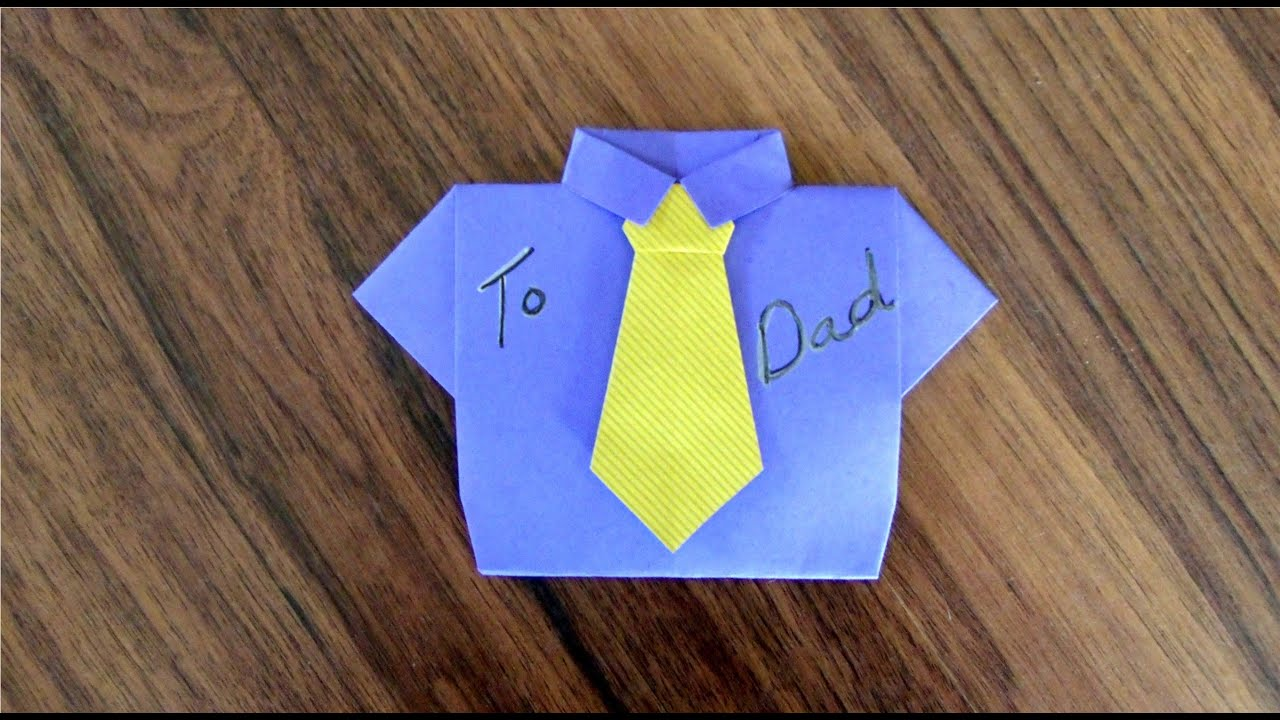 Origami T Shirt And Tie