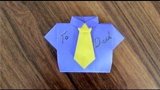 Fold A Father's Day Card (or Guy Birthday Or Missionary Card ), Part 2 - The Tie, Origami