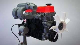 3D Printed Inline-4 Cylinder - Working Model!
