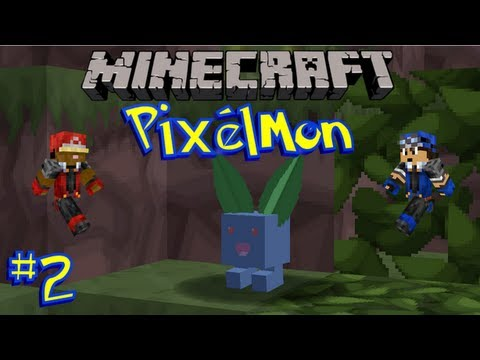 Pixelmon Minecraft Pokemon Mod Ep 02 First Boss and the Town With No Name