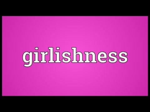 Header of girlishness