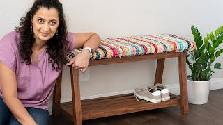 How to Build a DIY Bench With Shoe Storage (Under $25) [w/plans]