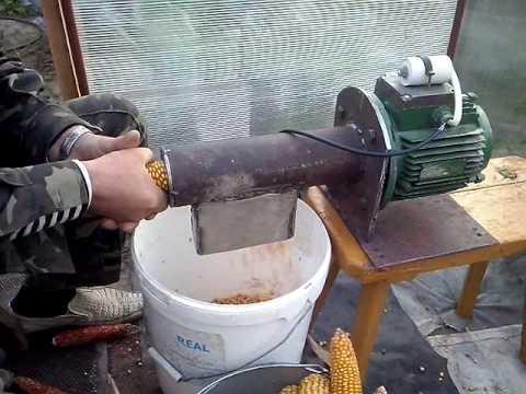 Машина для лущения кукурузы своими руками