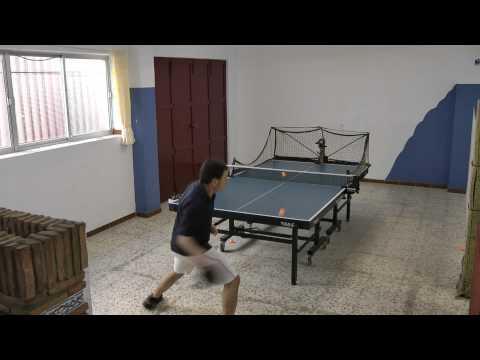 Tenis De Mesa. Entrenamiento Con Robot Donic Robopong. Zalamea TM