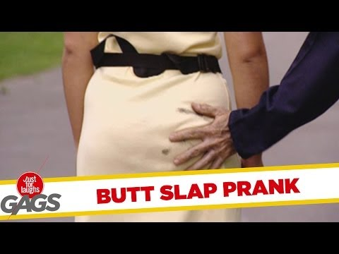 Slap on the Butt Prank - Just For Laughs Gags