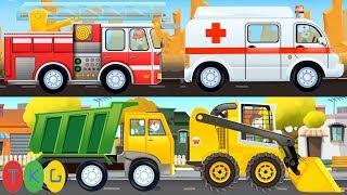 Xe Cứu Hỏa, Cứu Thương, Xe Cảnh Sát | Fire Truck-Ambulance-Police Car | TopKidsGames (TKG)