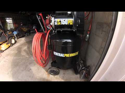 Compressor Update 29gal 2hp 150psi Central Pneumatic Air Compressor