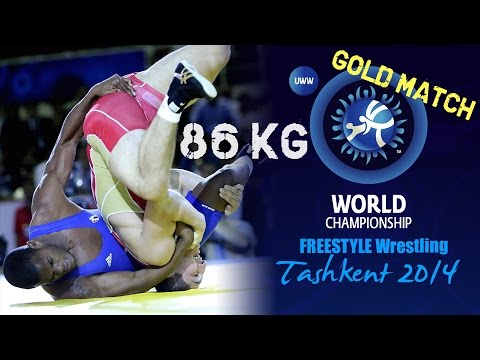 Gold Match - Freestyle Wrestling 86 kg - A. SADULAEV (RUS) vs R. SALAS (CUB) - Tashkent 2014