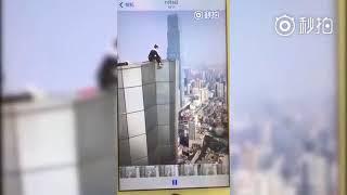 Công bố đoạn clip diễn viên Trung Quốc trượt tay rơi từ tầng 62 xuống đất