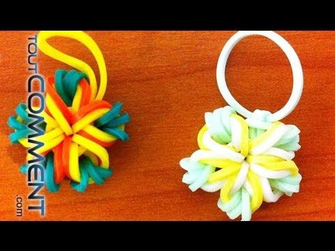 Comment faire une bague en coeur avec les lastiques avec les doigts ou avec des stylos videolike - Comment faire une fleur en elastique ...