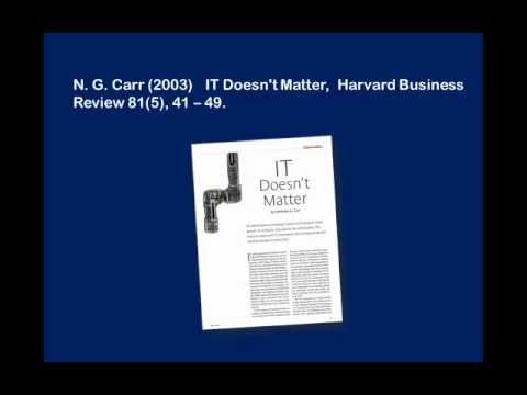 it doesn t matter nicholas carr It doesnt matter nicholas g carr introduction: it doesn't matter was an article written by: nicholas gcarr for the harvard business review magazine in 2003 the article outlines a situation, not quite as its title suggests, that it is less relevant that it used to be in terms of a competitive advantage in industry.