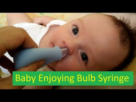 Very funny Video of Cute Baby Enjoying Bulb Syringe