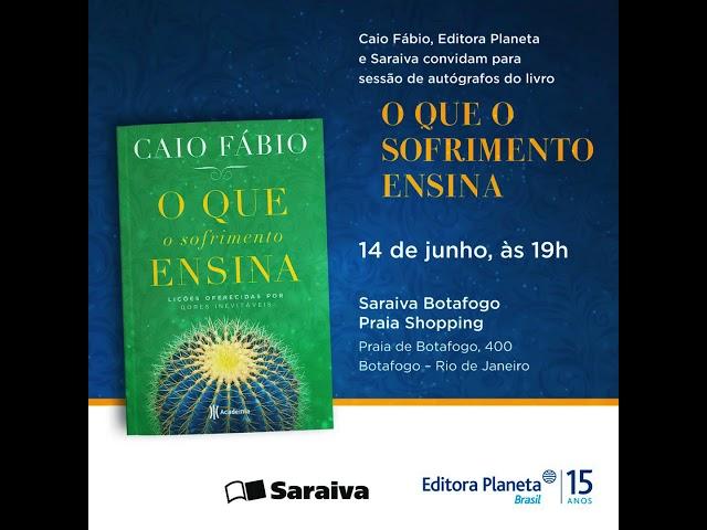 """Caio Fábio em São Paulo. 13/06 - Sessão de autógrafos do livro """"O que o sofrimento ensina!."""