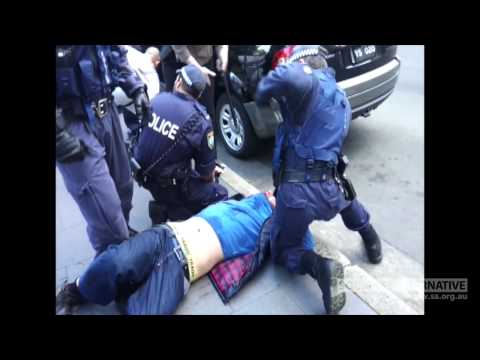 Eyewitness Footage - Police Brutality at Muslim Protest in Sydney (15/09/2012)