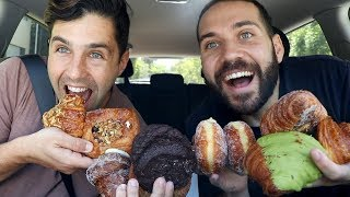 FRESH BAKED DONUTS, COOKIES, PASTRIES MUKBANG with JOSH PECK