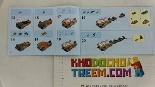 Hướng dẫn lắp ráp Lepin 06094 Bela 11160 Lego Ninjago Movie 70666 The Golden Dragon giá sốc rẻ nhất