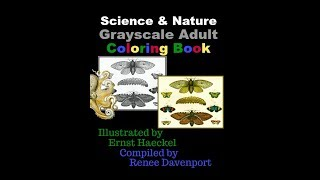 Science Nature Grayscale Adult Coloring Book Illustrations Ernst Haeckel Renee Davenport
