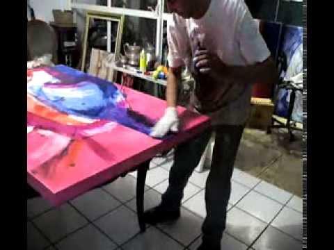 Pintando un abstracto expresionista