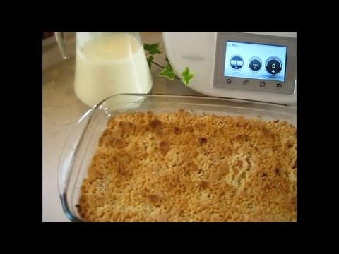 thermomix tm 5 apple crumble mit vanilleso e youtube. Black Bedroom Furniture Sets. Home Design Ideas