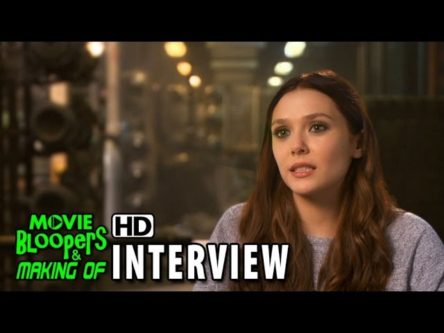 Avengers: Age of Ultron (2015) BTS Movie Interview - Elizabeth Olsen (Wanda Maximoff/Scarlet Witch)