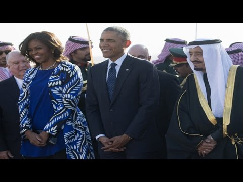 Michelle Obama Wears Outrageous Western Outfit At Saudi King's Funeral