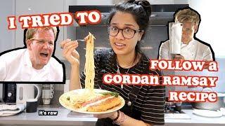 i tried to follow a gordan ramsay recipe   clickfortaz