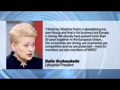 Grybauskaite: EU must work harder to combat Russian information war