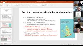 Tim Lang : Coronavirus and the Food System : Farming the Future 2020