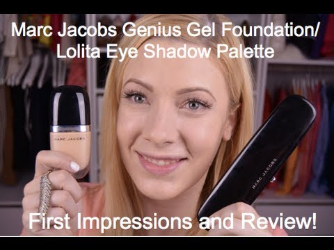 Marc Jacobs Beauty: Genius Gel Foundation First impressions,review, application & Lolita palette