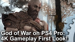 [4K] God of War PS4 Pro First Look - Sony's Next Big Tech Showcase!