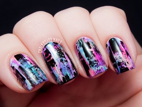 Nail Effect Tutorial Tutorial Distressed Nail Art