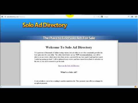 How To Use Solo Ads - Make $1,200 Per Day!