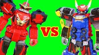 Power Rangers Beast Racer Zord  Vs Beast X Megazord ! Superhero Toys
