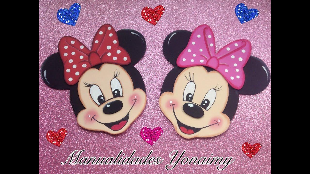 Goma Eva Con Moldes De Minnie Mouse
