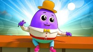 Humpty Dumpty sentou-se na parede Rimas de berçário para crianças Humpty Dumpty Song  Preschool Song